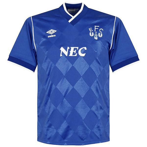 Everton home vintage retro jersey soccer shirt match men's first sportswear football shirt 1986-1987