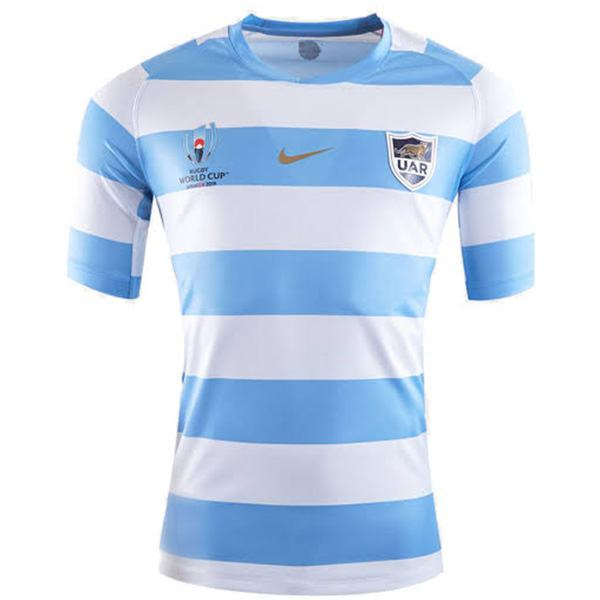 Argentina home 2019 word cup rugby jersey national team RWC men's replica shirt blue white