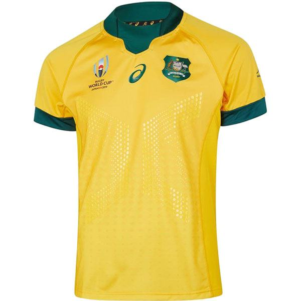 Australia Home 2019 Rugby World Cup Men's Gameday RWC Replica Jersey