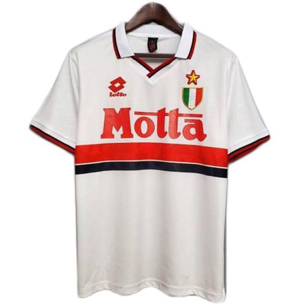 AC milan away retro soccer jersey maillot match men's second sportwear football shirt 1993-1994