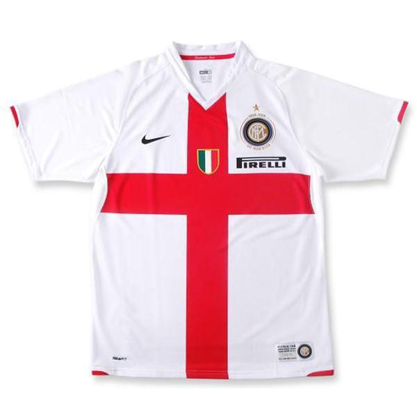 Inter Milan 100th Away Commemorative Edition Retro Jersey Maillot Match Men's Soccer Sportwear Football Shirt 2007/08