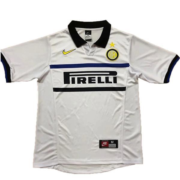 Inter milan away retro soccer jersey maillot match men's 2ed sportwear football shirt 1998-1999