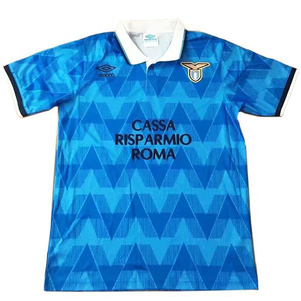 Lazio home retro vintage soccer jersey match men's first sportswear football shirt 1989