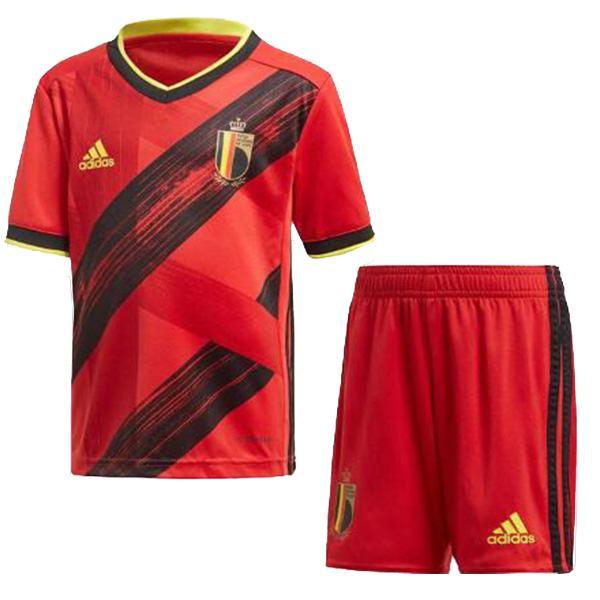 Belgium Home Kids Kit EURO2020 Soccer Children 3rd Football Shirt Youth Uniforms 2019-2020
