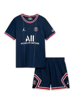 Jordan paris saint germain home kids kit soccer children first football mini shirt maillot match youth uniforms 2021-2022
