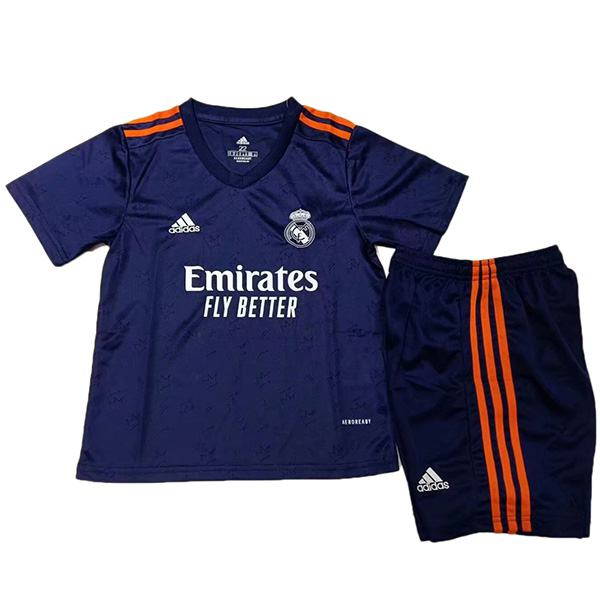 Real madrid away kids kit soccer children second football shirt maillot match youth uniforms 2021-2022
