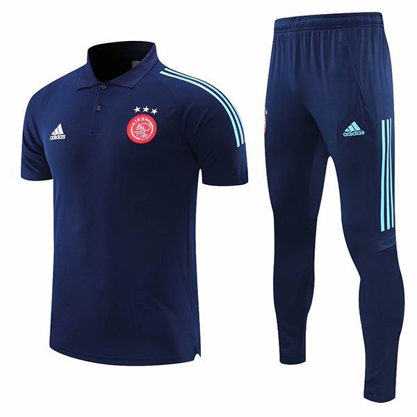 Ajax polo training jersey soccer teal match men's sportswear football t-shirt blue 2021