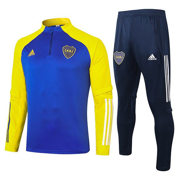 Boca Juniors Tracksuits Soccer Pants Suit Sports Set Necked Cleats Men's Clothes Football Training Jersey Blue Yellow 2020-2021