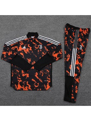 Juventus Tracksuits Soccer Pants Suit Sports Set High Necked Cleats Men's Clothes Football Training Jersey Red Black 2021