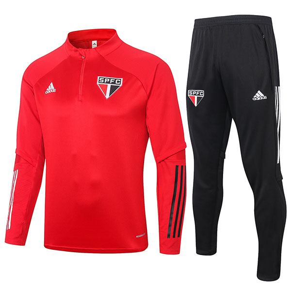 Sao Paulo FC Tracksuit Soccer Pants Suit Sports Set Necked Cleats Men's Clothes Football Training Jersey Red 2020